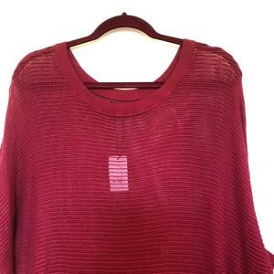 ( BRAND NEW! ) RED KNIT SEE THROUGH SWEATER, M
